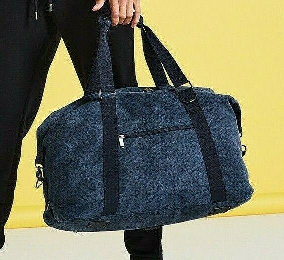 Bagbase Vintage Cotton Canvas Weekender Holdall Travel Duffel Bag Carry (BG650)
