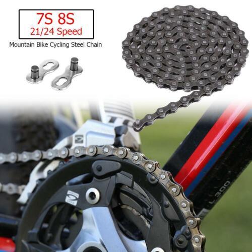 Bicycle Chain 116 Links 7S 8S 21//24 Speed MTB Mountain Bike Steel Chain