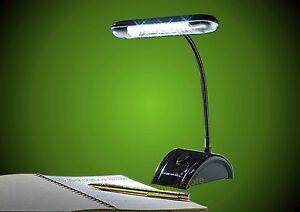 Lampada da scrivania led 12 led lettura batterie comodino tavolo