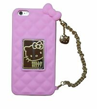 Hello Kitty Purse Case w Gold Chain & Gift Box For iPhone 6 iPhone 6 Plus Note 4