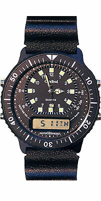 RAAF Air Force Aviation Pilot Watch - Dual Time, Stop Watch, 2 year warranty