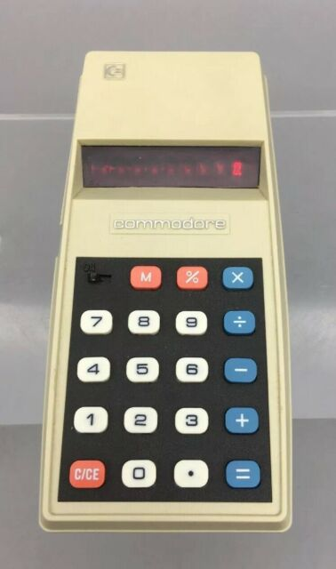 Nice Mint condition vintage 1976 Commodore 796M RED-LED Basic Calculator -  G07