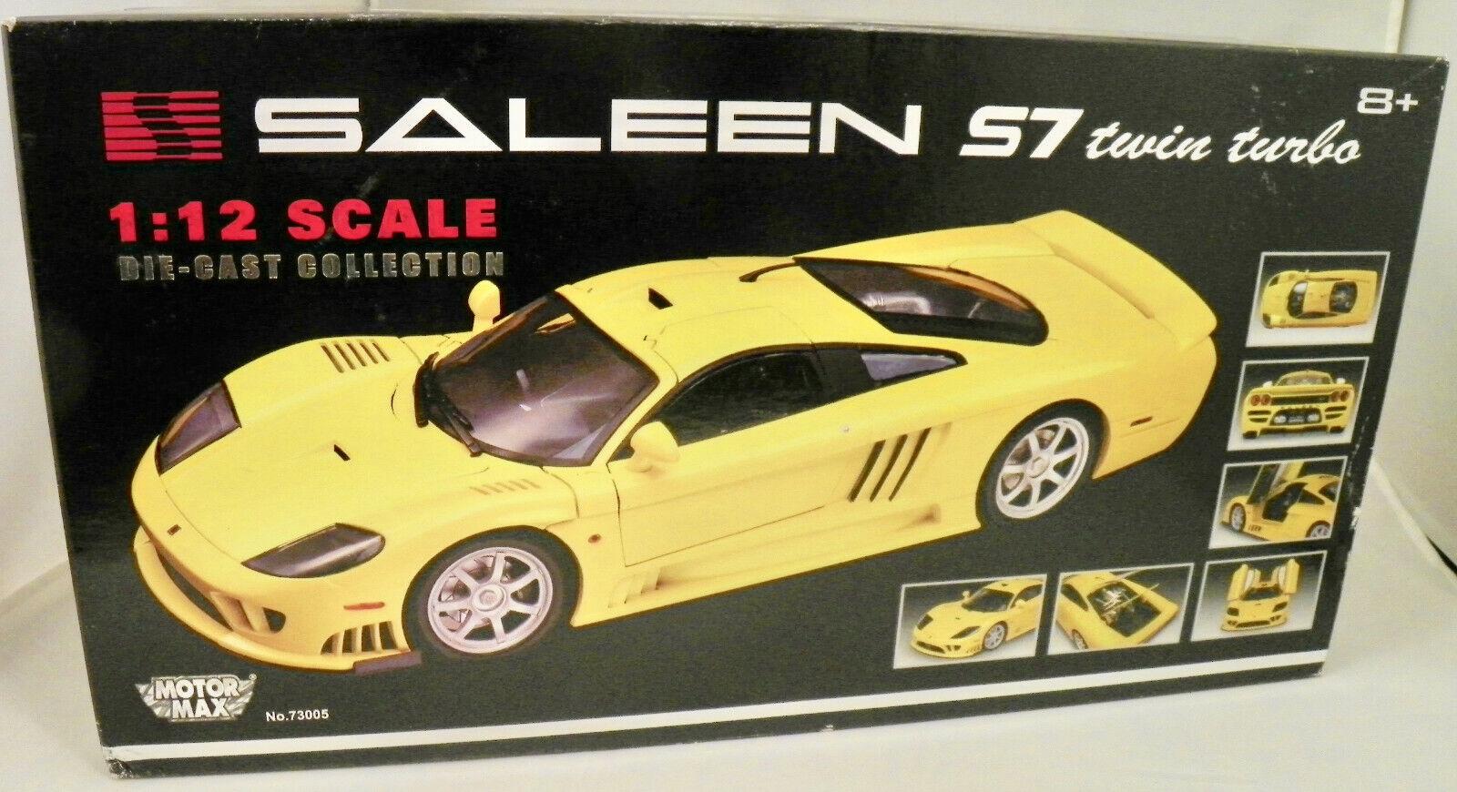 classico senza tempo Motormax 1 12 Scale Die-Cast Collection SALEEN S7 twin twin twin turbo - nuovo - Un-Opened  spedizione veloce a te