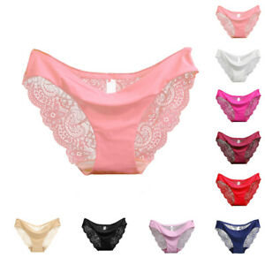 3d85811b607 Image is loading Sexy-Women-Lace-Panties-Seamless-Cotton-Panty-Hollow-