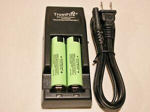 2-PANASONIC-NCR18650PF-HIGH-DRAIN-10A-Battery-2900mAh-TRUSTFIRE-TR-001-CHARGER