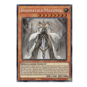 Near Mint YUGIOH! Dogmatika Maximus ROTD-DE009 1 Auflage! Secret Rare