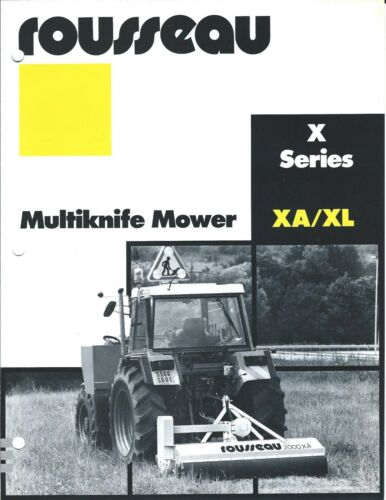 Equipment Brochure - Rousseau - XA XL - Multiknife Mower for Tractor (E3275)