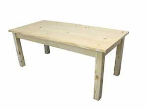 Exceptionnel Image Is Loading Unfinished Plank Top Farmhouse Table Rustic Harvest  Farmhouse