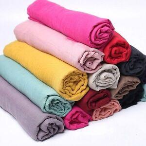 Pour-Hommes-Femmes-Ete-Echarpe-Long-Doux-Coton-Chaud-Hijab-Protection-Solaire