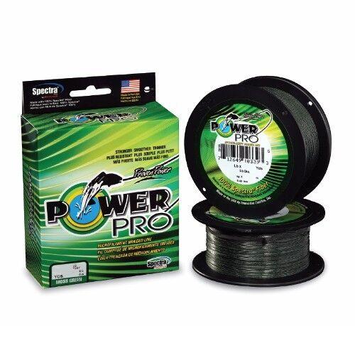 Power Pro Spectra Braid Fishing Line 50 lb Test 1500 Yards Yds Moss Green 50lb
