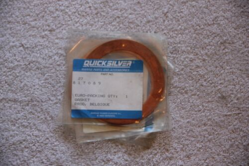 Mercury Mercruiser Quicksilver OEM Part 27-817089 copper gasket ring NEW sealed