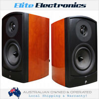 Aperion Verus Ii Grand Bookshelf Audiophile Speaker Pair Cherry 10 Year Warranty