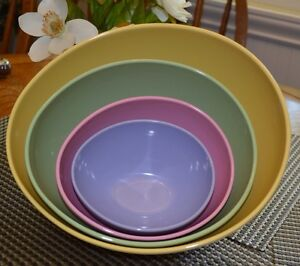 Image Is Loading Easter Egg Shaped Plastic Mixing Bowls Multi Color