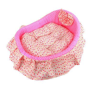 Small Pet Mat Cat Dog Puppy Sleeping Bed Sofa Soft Plush Cushion Cozy Nest Pink