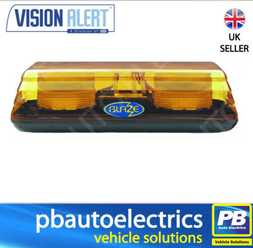 Vision Alert Blaze II 10v 48v 2 Bolt Fixing Amber LED Mini Lightbar 65.00202