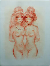 """EVERAERT (XXème) pastel """"Les 2 femmes nues"""" dim. 65 x 50 cm signé en bas droite"""