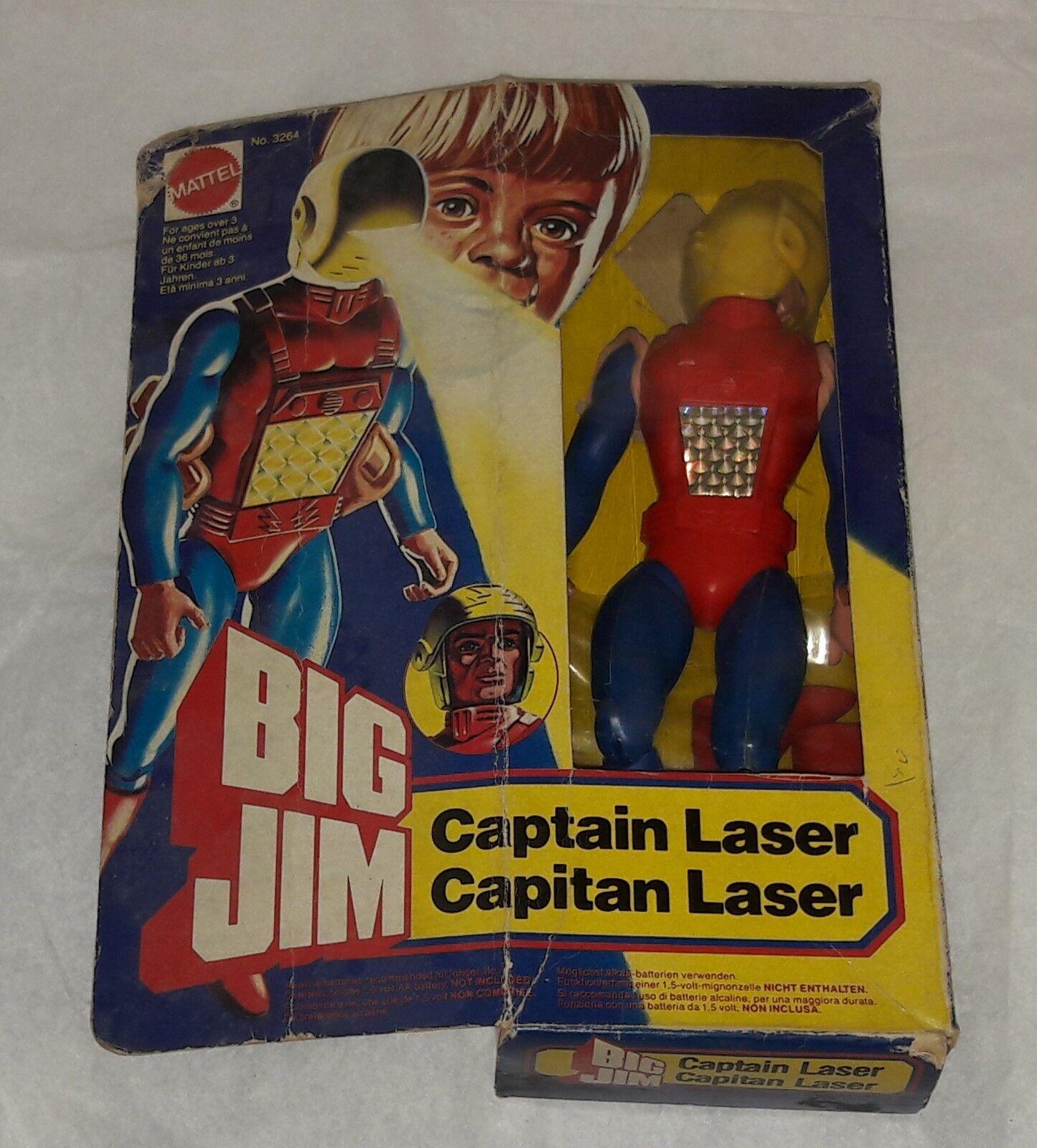BIG JIM CAPTAIN LASER - Mattel 1984 Neuf MISB New