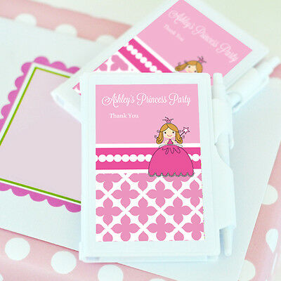 Personalized Notebook Girl Birthday Party Baby Shower Favors - 8 Design Options