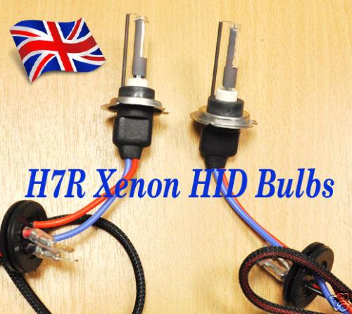 H7R 5000K HID OEM colour Xenon car Bulb 2 Bulbs 35w Lamps Metal based car  U.K.