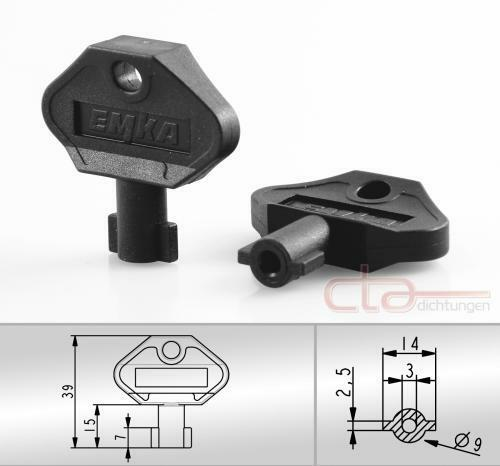 1x Spike Wrench Socket Wrench Double Bit DB 3 mm Black Plastic 1c04-34