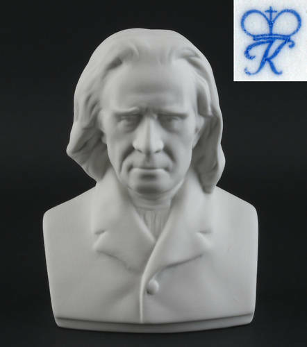 9944076 Bisquit Porzellan Büste Franz Liszt Kämmer H12cm