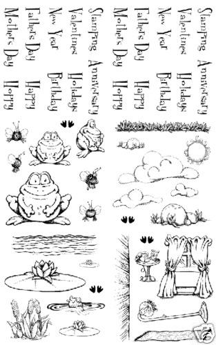 Frog stamps ANTHONY /& BURT ACCESSORIES 49 pc STAMP SET