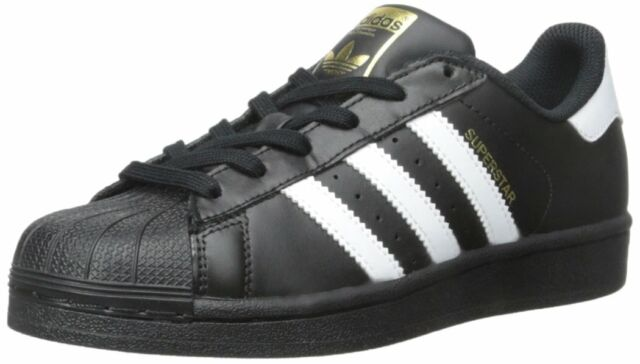 wholesale dealer 68542 e0cb6 Adidas B23642: Big Kid Originals Superstar Foundation J Casual Black Sneaker