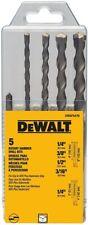 Dwaf5470 5 Piece Dewalt Sds Plus Carbide Tipped Roto Hammer Drill Bit Set
