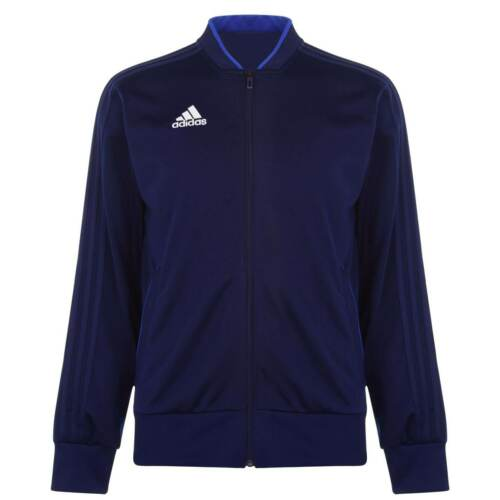 adidas Tracksuit Top Mens Gents Full Length Sleeve Crew Neck Ventilated Zip