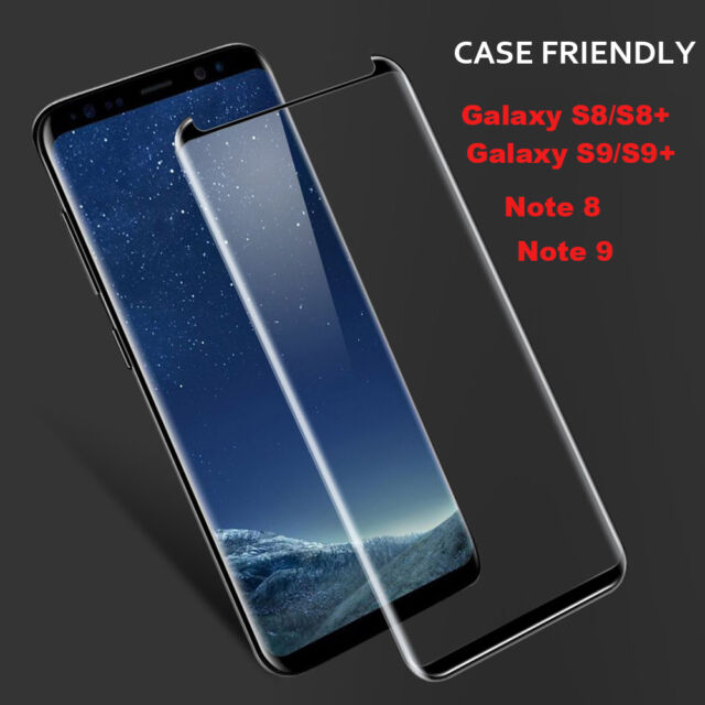 on sale 98fa3 391ea Full glue Tempered Glass Screen Protector For Samsung Galaxy Note 8/9  S9/S8/Plus