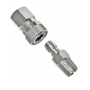 Paintball-PCP-8mm-Quick-Release-Disconnect-Coupler-1-8NPT-Fitting-Male-amp-Female