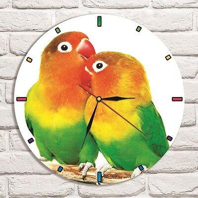 - Pappagallini Colore Design Vinile Record Orologio Da Parete Arte Casa Ufficio Negozio Hobby Vet 2- Ultimo Stile