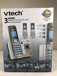VTech 3 Handset Digital Phone Answering System Connect to Cell DS6522-32