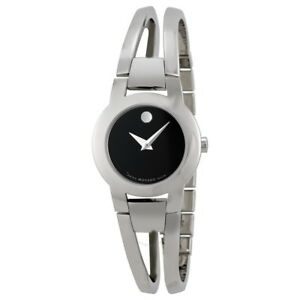 Movado-Amorosa-Stainless-Steel-Silver-Tone-Ladies-Watch-604759-New-in-Box-w-Tag