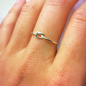 Rose Gold Ring Gold Knot Ring Silver Knot Ring Bridal Party Gift Infinity Love Knot Ring Maid of Honor Will You Be My Bridesmaid