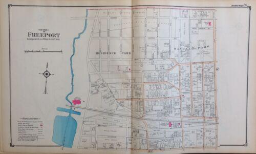 1914 REPRODUCTION ATLAS MAP FREEPORT NASSAU LONG ISLAND NEW YORK