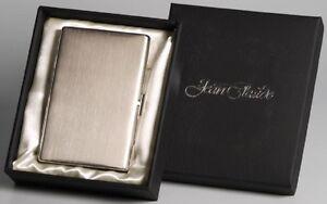 JEAN-CLAUDE-Zigarettenetui-Metall-chrom-gebuerstet-9-Zigaretten-85-100-mm-NEU