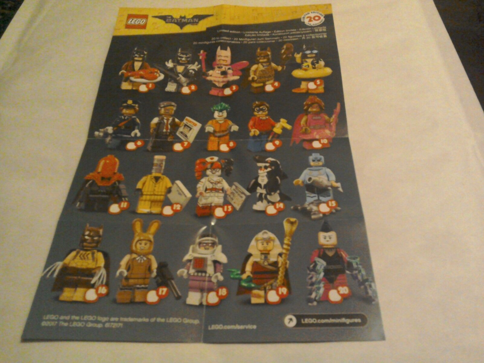 Lego The Batman Movie series 1 Limited Edition Minifigures 71017 Full Set of 20