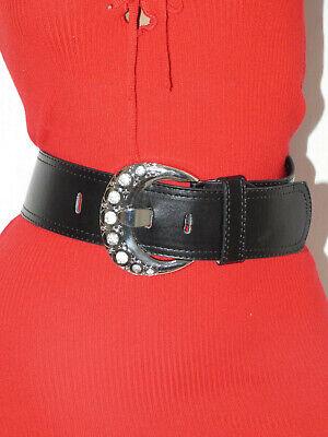 Breiter Damen Taliegürtel Hüftgürtel Disco Langgürtel 4,7cm breit Länge 85-100CM