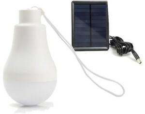 Solar Rechargeable LED Bulb and Solar Panel