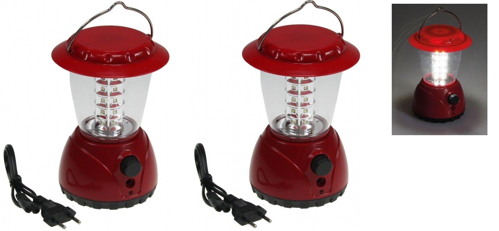 2 er er er Set LED Akku Camping Laterne 36 LED Dimmer Campinglampe Zeltlampe Laterne 93b0d6