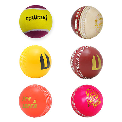 Opttiuuq Set Of 6 For Adult Cricketers Including Leather Cricket Balls And Rubber Training Balls Size Mens Best Presents For Birthdays and Christmas