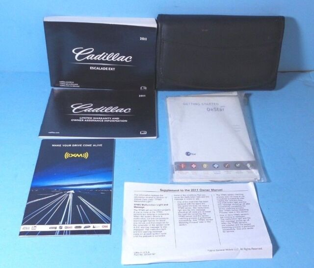 11 2011 Cadillac Escalade EXT Owners Manual With