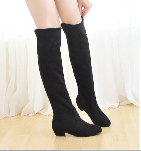 Brand New Women/'s Over Knee Slim High Boot Lace Up Flats Long Thigh Boots Shoes