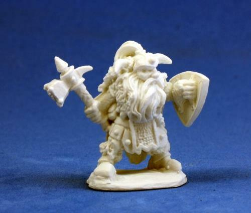 Fulumbar, Dwarf Warrior Bones Miniature by Reaper Miniatures RPR 77011