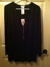 Michael Kors Black Blouse Swimsuit Cover Up Tunic Top Shirt Sz. Large