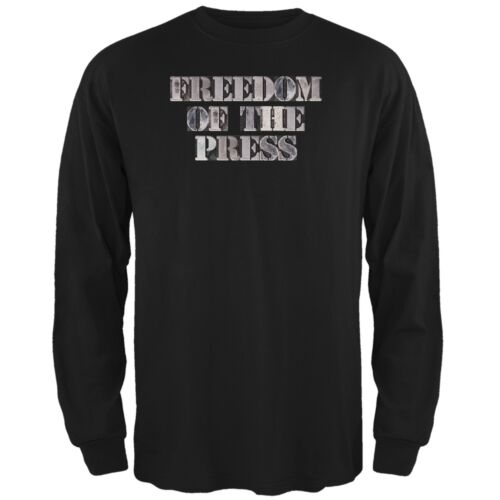 Freedom of the Press Black Adult Long Sleeve T-Shirt