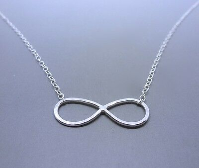 Infinity with Claddagh Necklace Sterling Silver 925 Chain Eternity Friendship