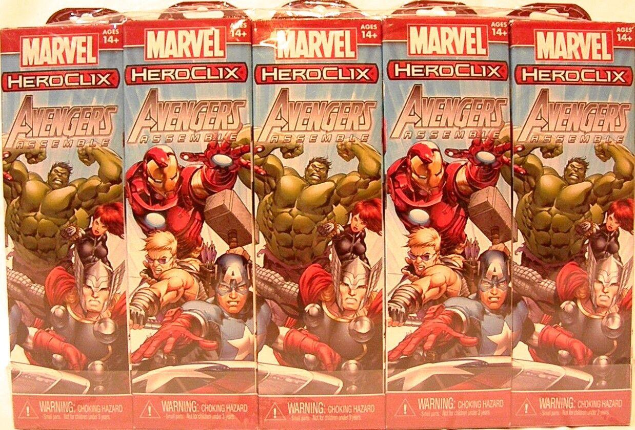 Heroclix Sellado Brick   Marvel 5 Figuras De Los Vengadores montar Booster Pack X 10