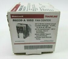 R8239B1043//U R8239B-1 Honeywell Fan Center with DPDT Switch Action Black and White